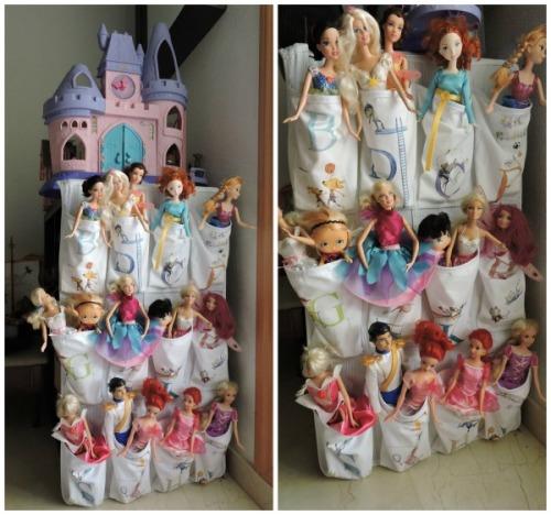 Nuestras muñequitas organizadas y vestidas
