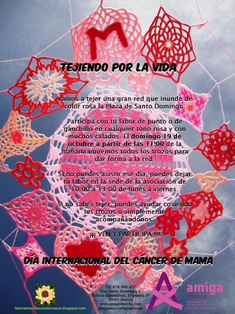 El 19 de octubre a partir de las 10 se unirán todos los bordados para crear esa RED que lo llene todo