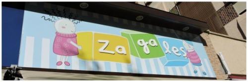 Cartel de entrada de Zagales